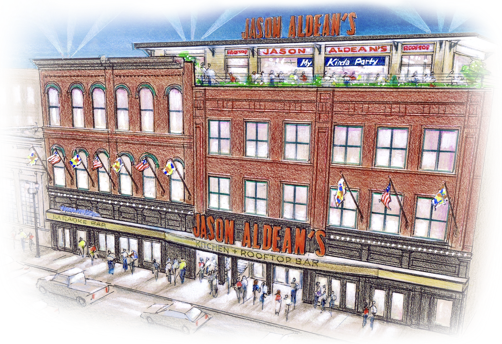 Jason Aldean's Exterior Render March 22