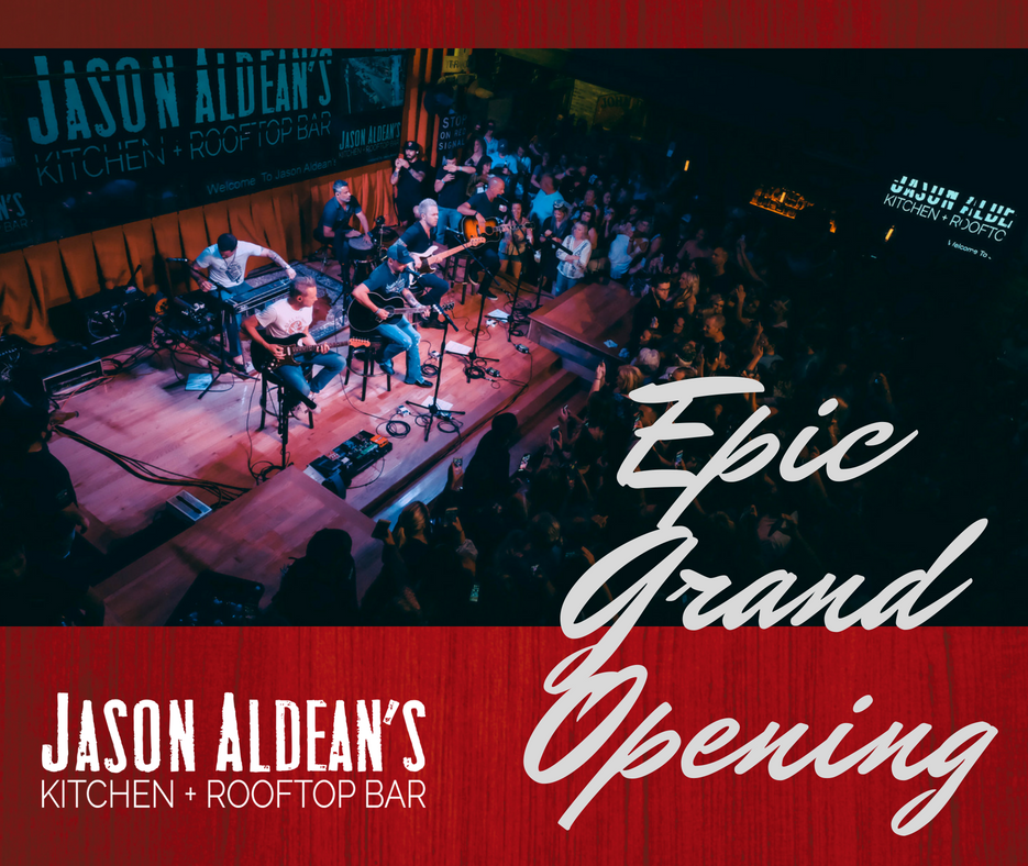 Jason Aldean's Nashville Grand Opening
