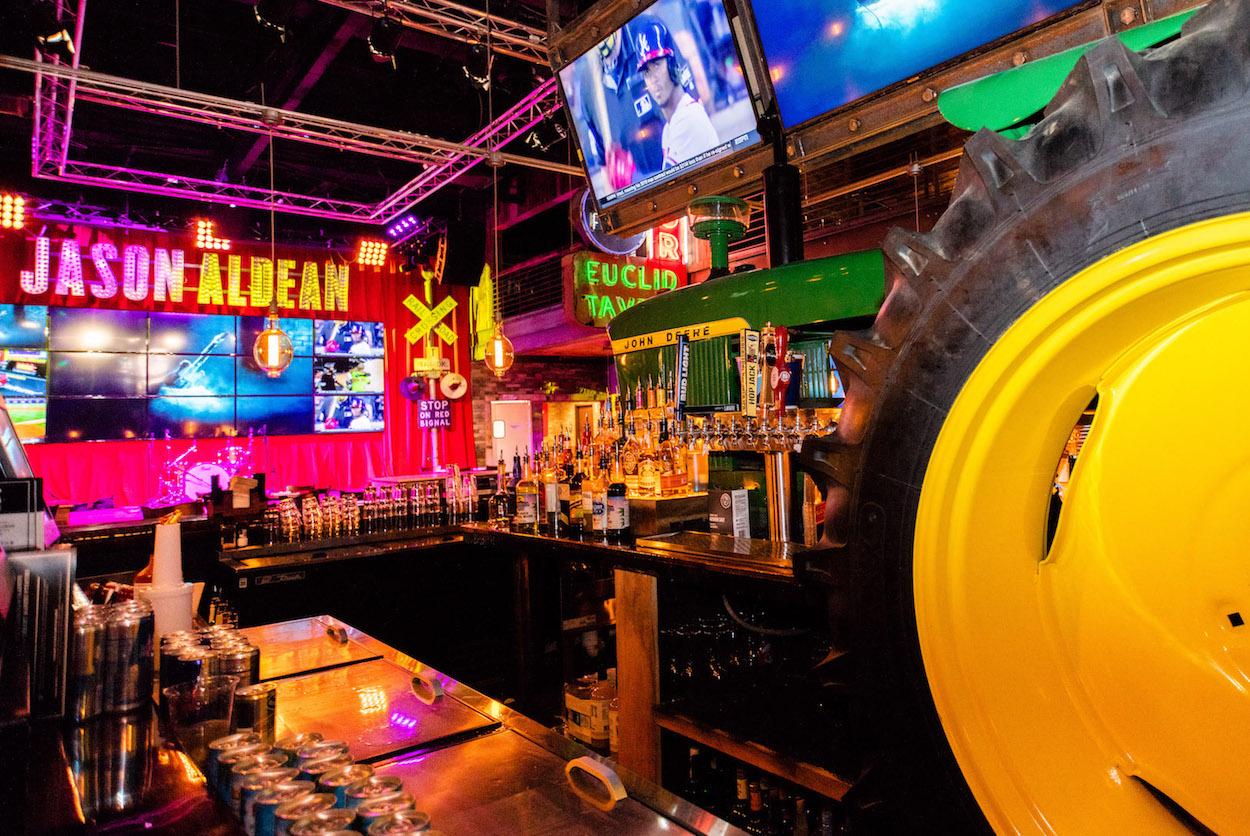Jason Aldean's Tractor bar