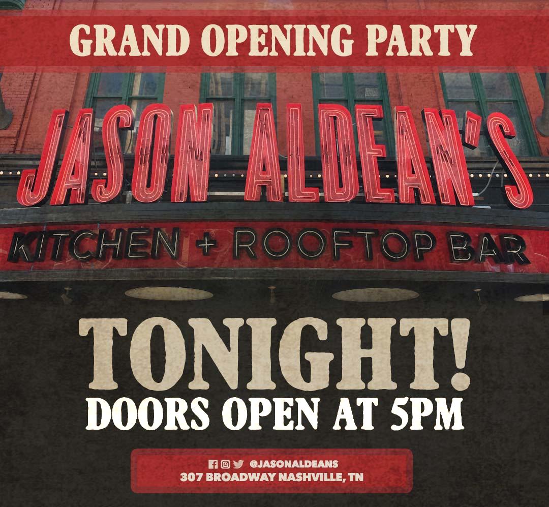 Jason Aldean's Grand Opening