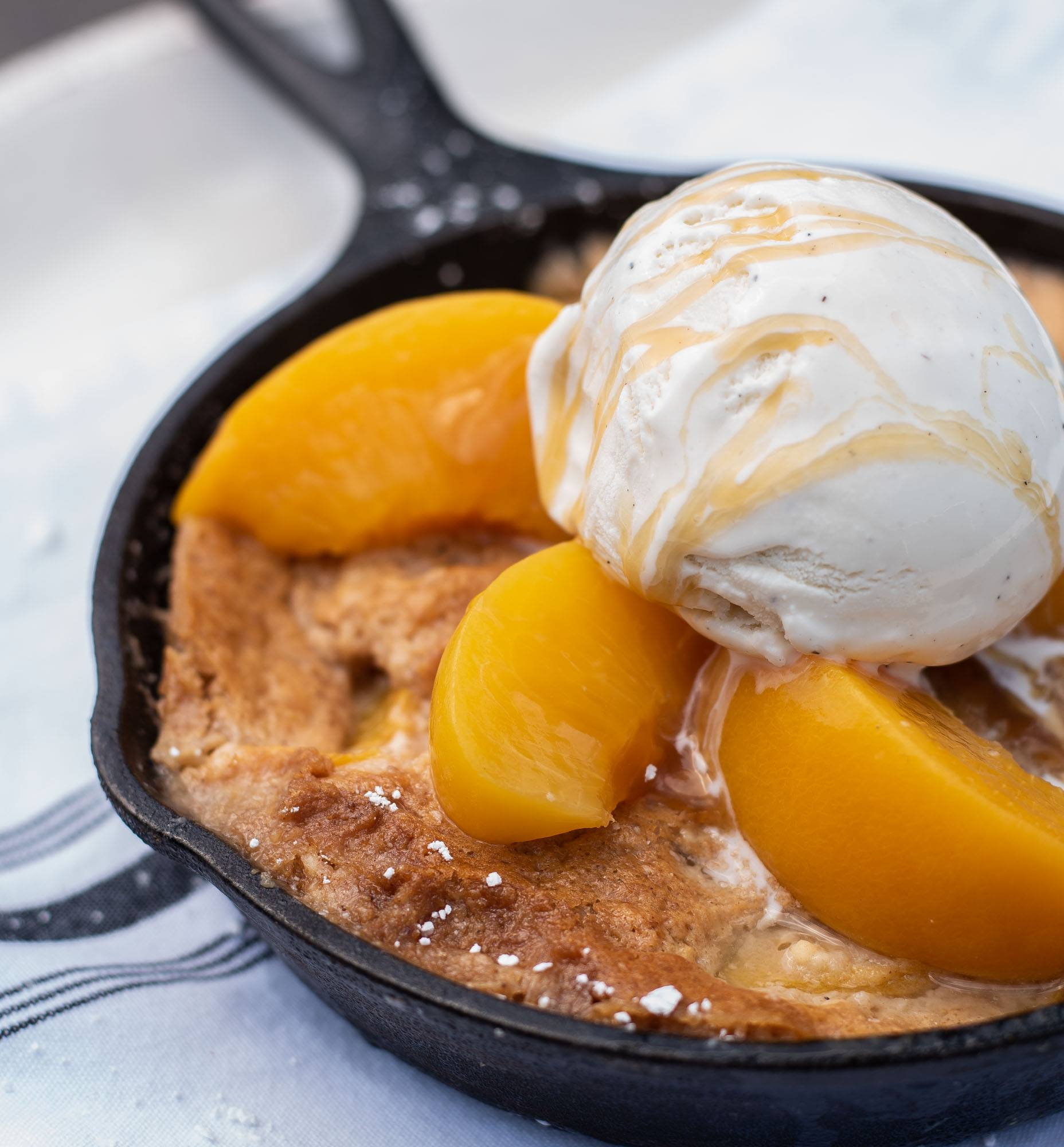 Mama Aldean's Peach Cobbler - Family Recipe - Dessert