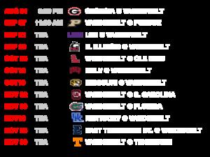 Vanderbilt Schedule